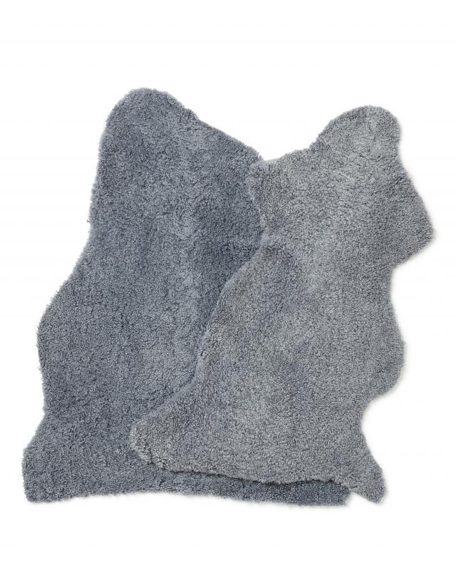 CurlyR rug. Sheepskin - Steelgray