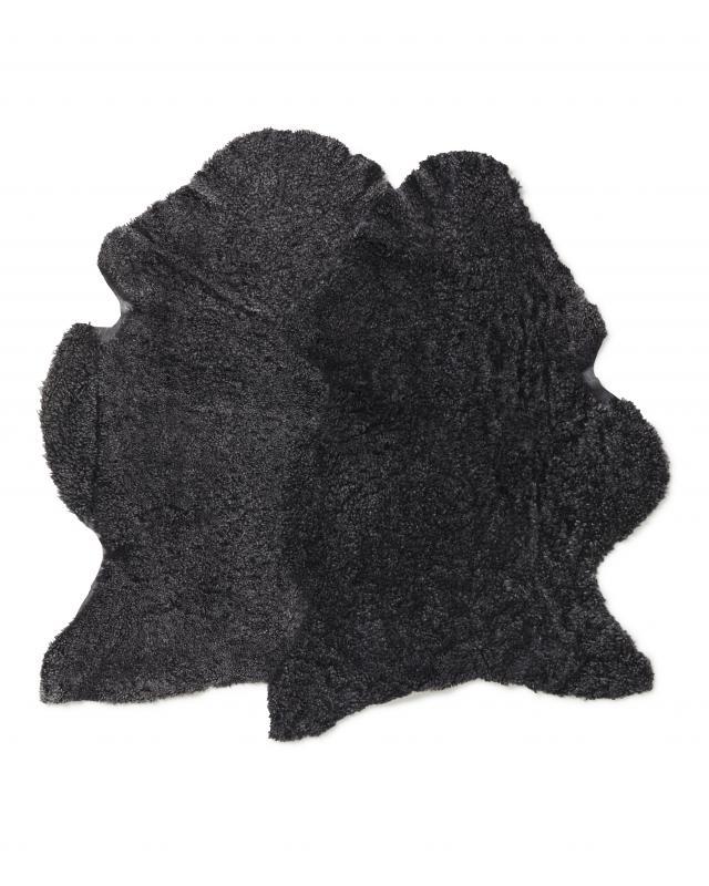 CurlyR rug. Sheepskin - Dark Grey