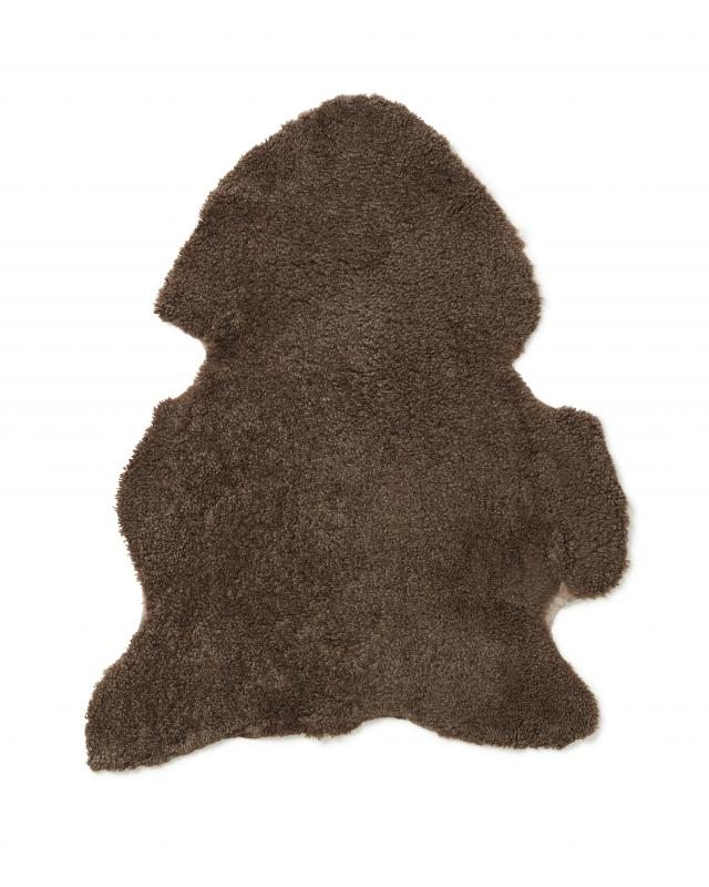 Curly-R Sheepskin - Light Brown
