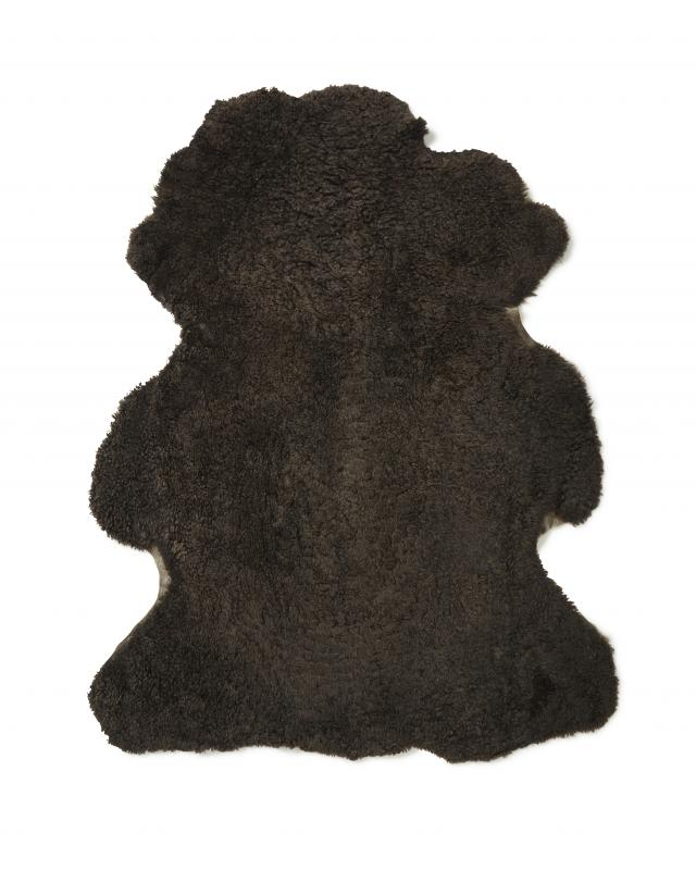 Curly-R Sheepskin - Dark Brown
