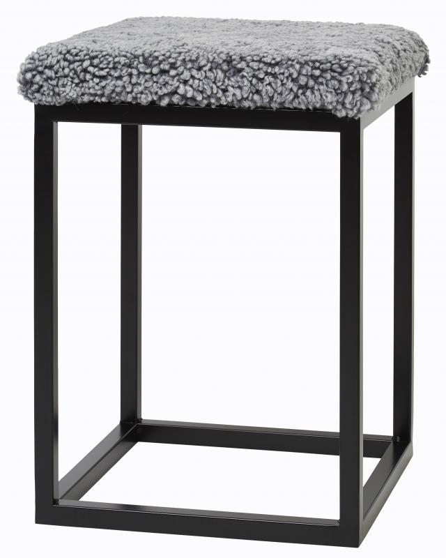 Palle Stool S Charcoal Silvergrey/Black