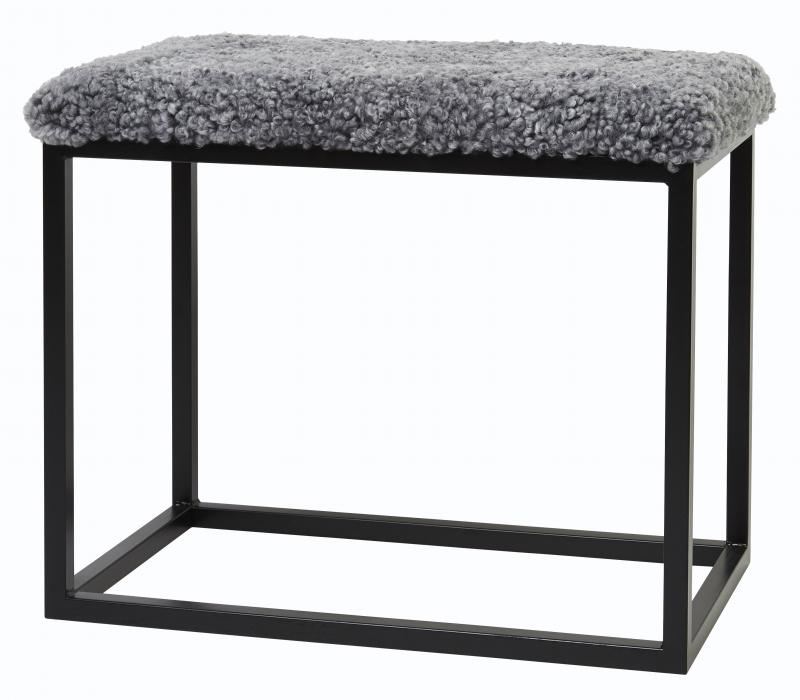 Palle Stool M Charcoal Silvergrey/Black
