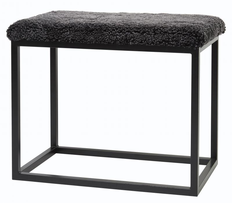 Palle Stool M Dark Grey/Black