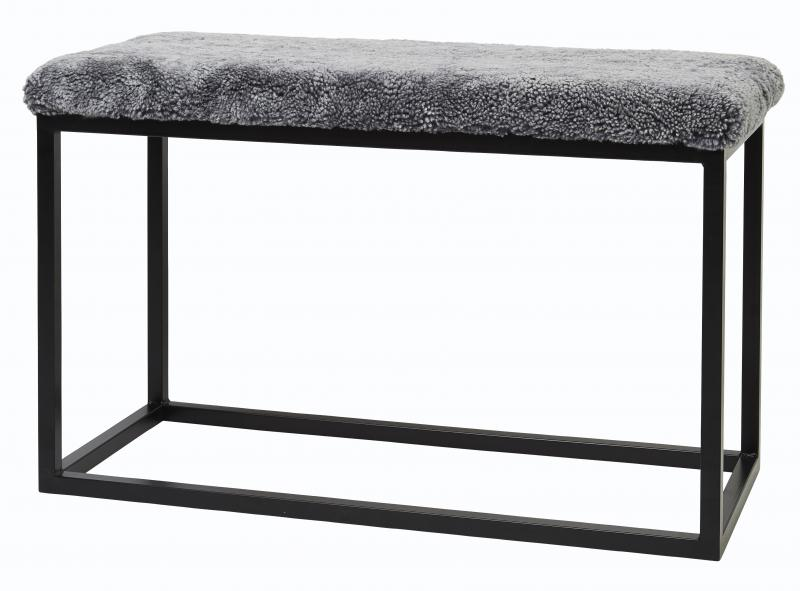 Palle Stool L Charcoal Silvergrey/Black