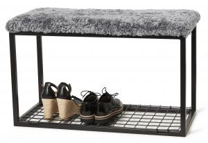 Palle L Curly Charcoal Silvergrey/Black