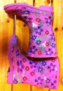 Barnstövlar gummi blommor
