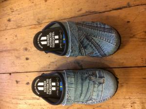 Trätofflor barn jeans