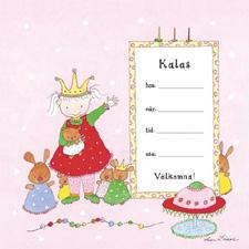 Inbjudningskort Kalas Prinsessa (6st)