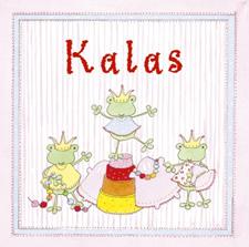 Inbjudningskort Kalas Flicka (6st)