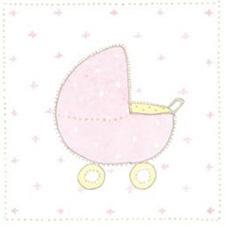 Kort - Rosa barnvagn