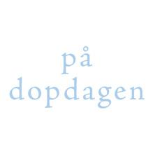 Dopkort - Blå text