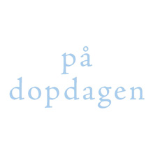 Dopkort - Blå text