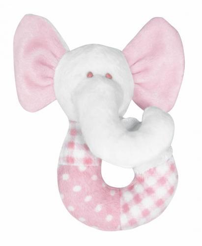 Pumpkin Skallra Elefant - Rosa