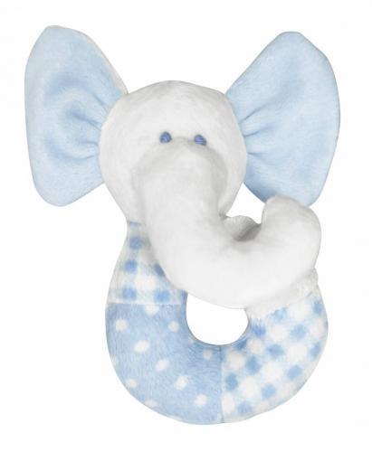 Pumpkin Skallra Elefant - Blå