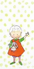 Kort - Flicka med kanin
