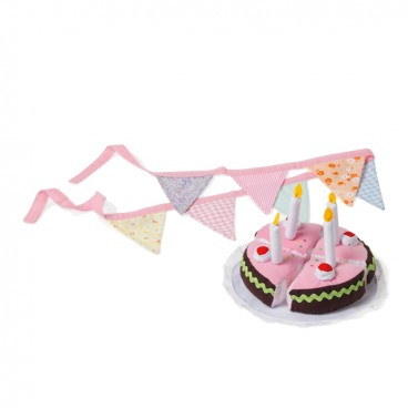 Födelsedagstårta i tyg