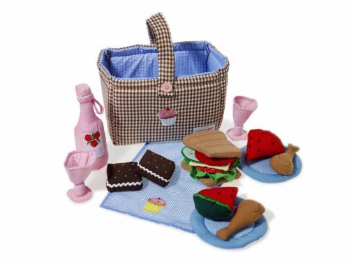 Picknickkorg i tyg