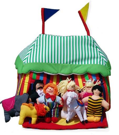 Cirkustält med aktörer