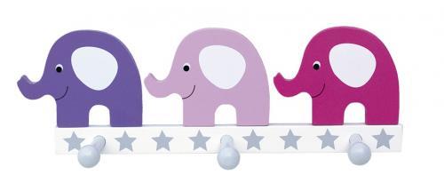 Hängare Elefant - Rosa