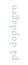 Dopkort avlångt - Blå text