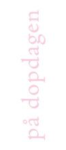Dopkort avlångt - Rosa text