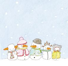 Julkort - Snögubbar