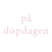 Dopkort litet - Rosa text