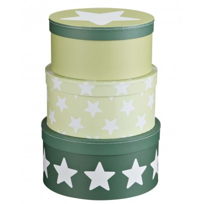 Pappersboxar Star - Ljusgrön