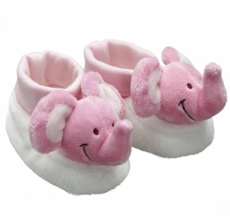 Babytoffla elefant - Rosa