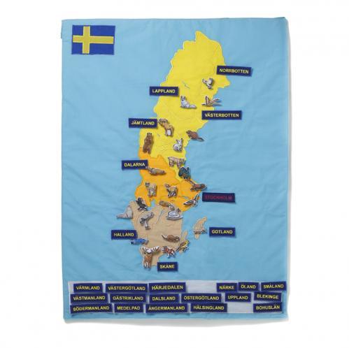 Sverigekarta i tyg
