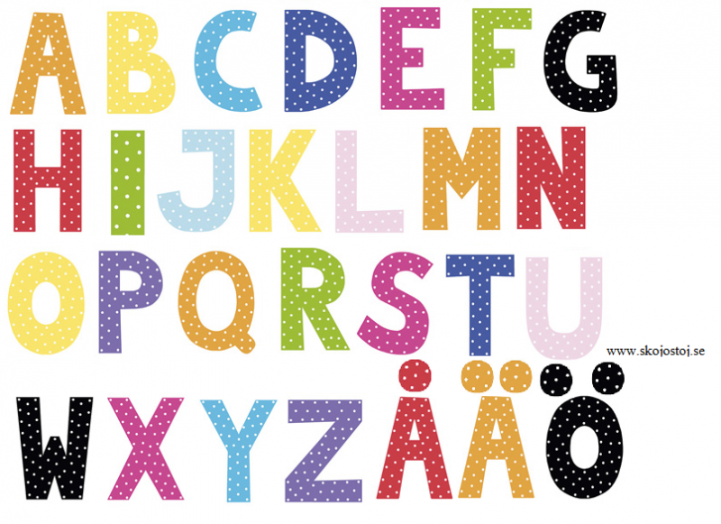 Alfabetet - Blandade färger
