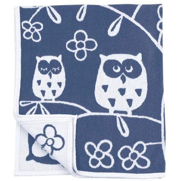 Filt - Ekologisk bomullschenille - Blå