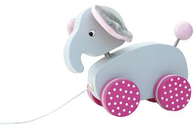 Dragdjur elefant - Rosa