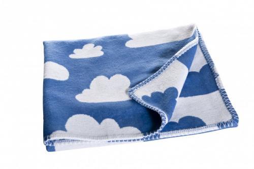 Barnfilt Moln - Blå