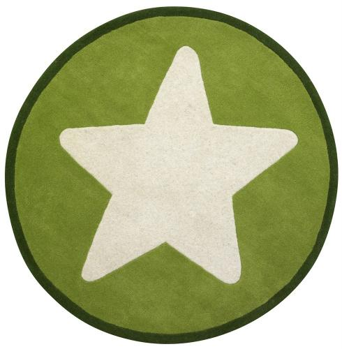 Ullmatta Star - Grön, stor stjärna.