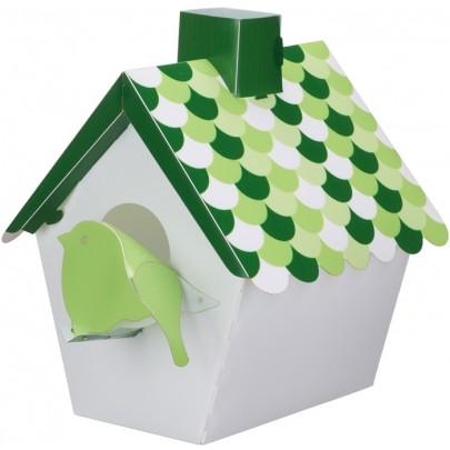 Vägglampa fågelbo - Grön