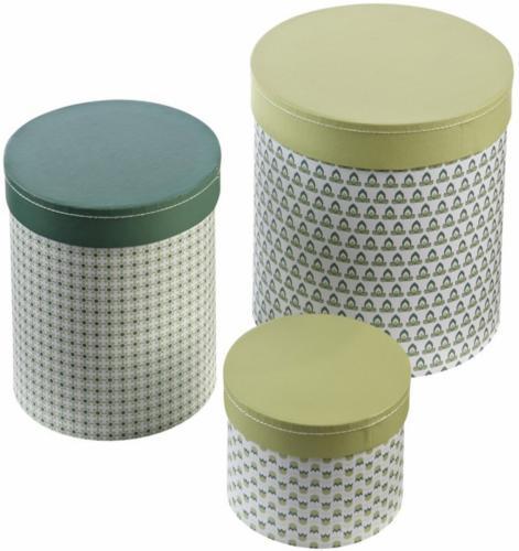 Pappboxar Vera - Grön (3-pack)
