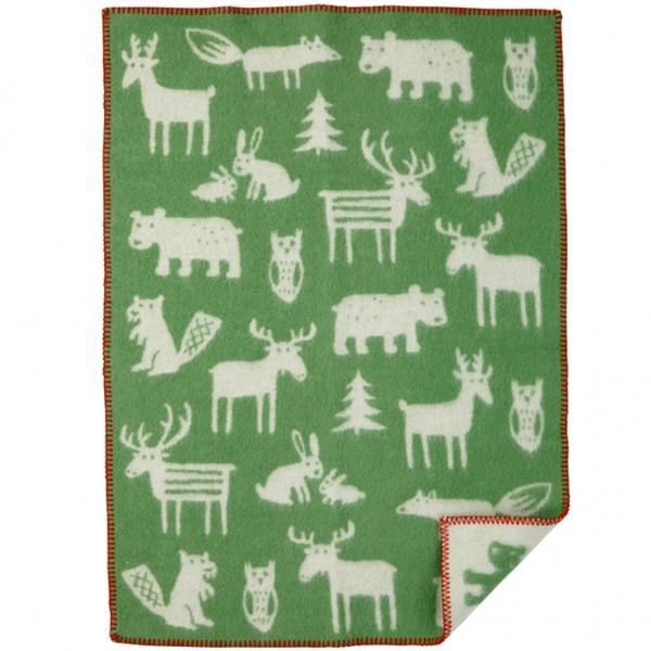 Filt forest - Ekologisk lammull - grön