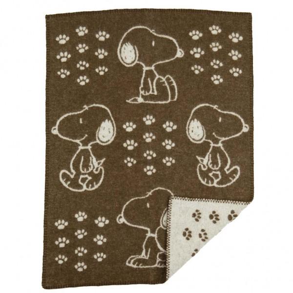 Filt - Snoopy ullfilt - brun