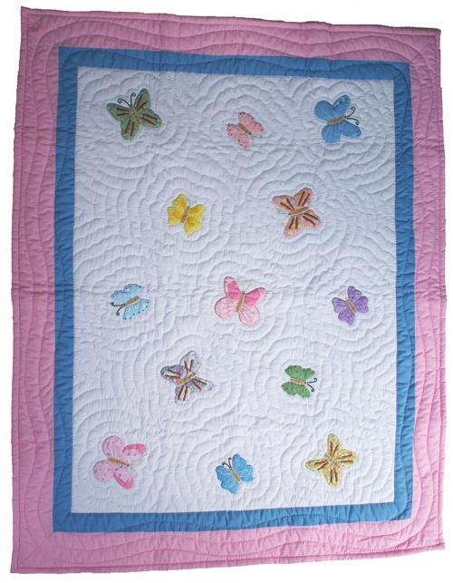 Handgjort täcke - Fjäril