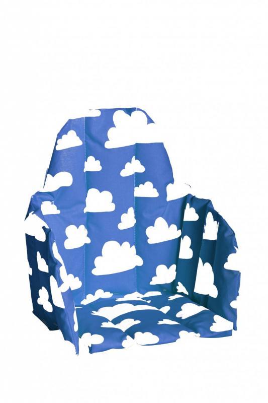Sittdyna barnstol - Moln (Blå)