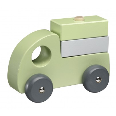 Träbilar 3-set grön