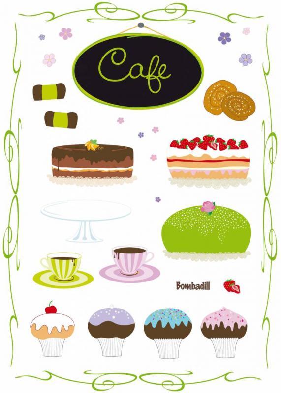 Väggdekor Cafe