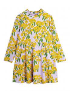 MINI RODINI ALPINE FLOWERS AOP HIGH NECK DRESS