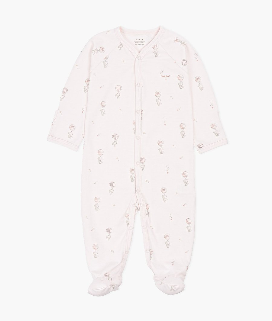 LIVLY SIMPLICTY FOOTIE PINK ELEPHANTS BALLOON