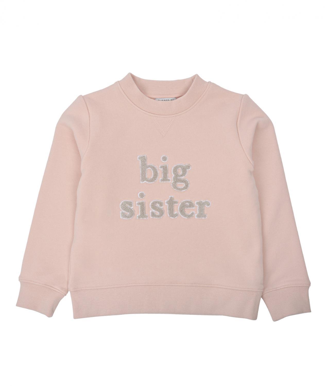 LIVLY SIBLING SWEATSHIRT BIG SISTER PINK