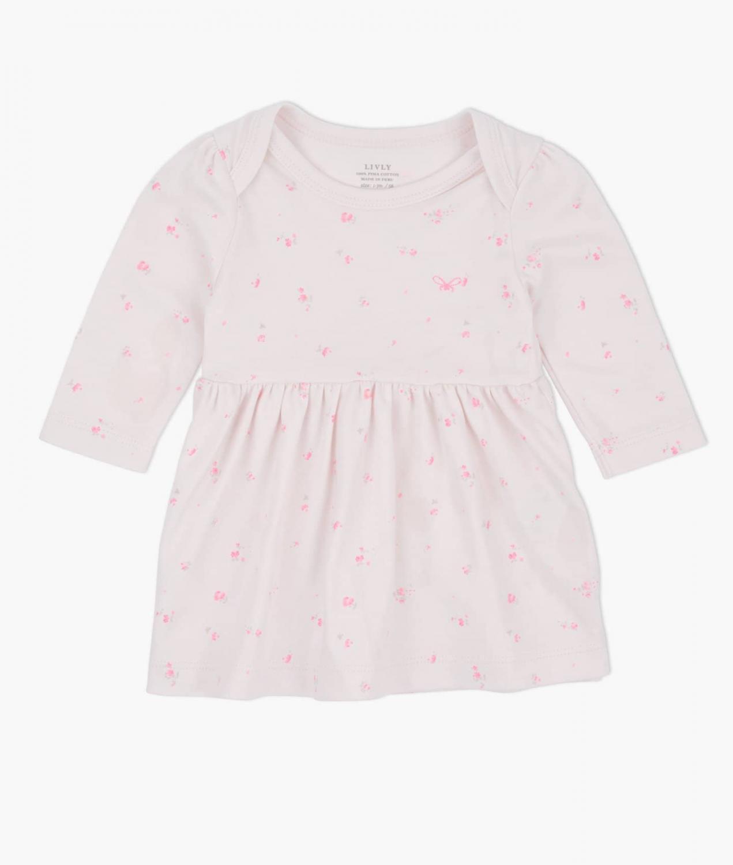 LIVLY BABY DRESS ROSE GARDEN