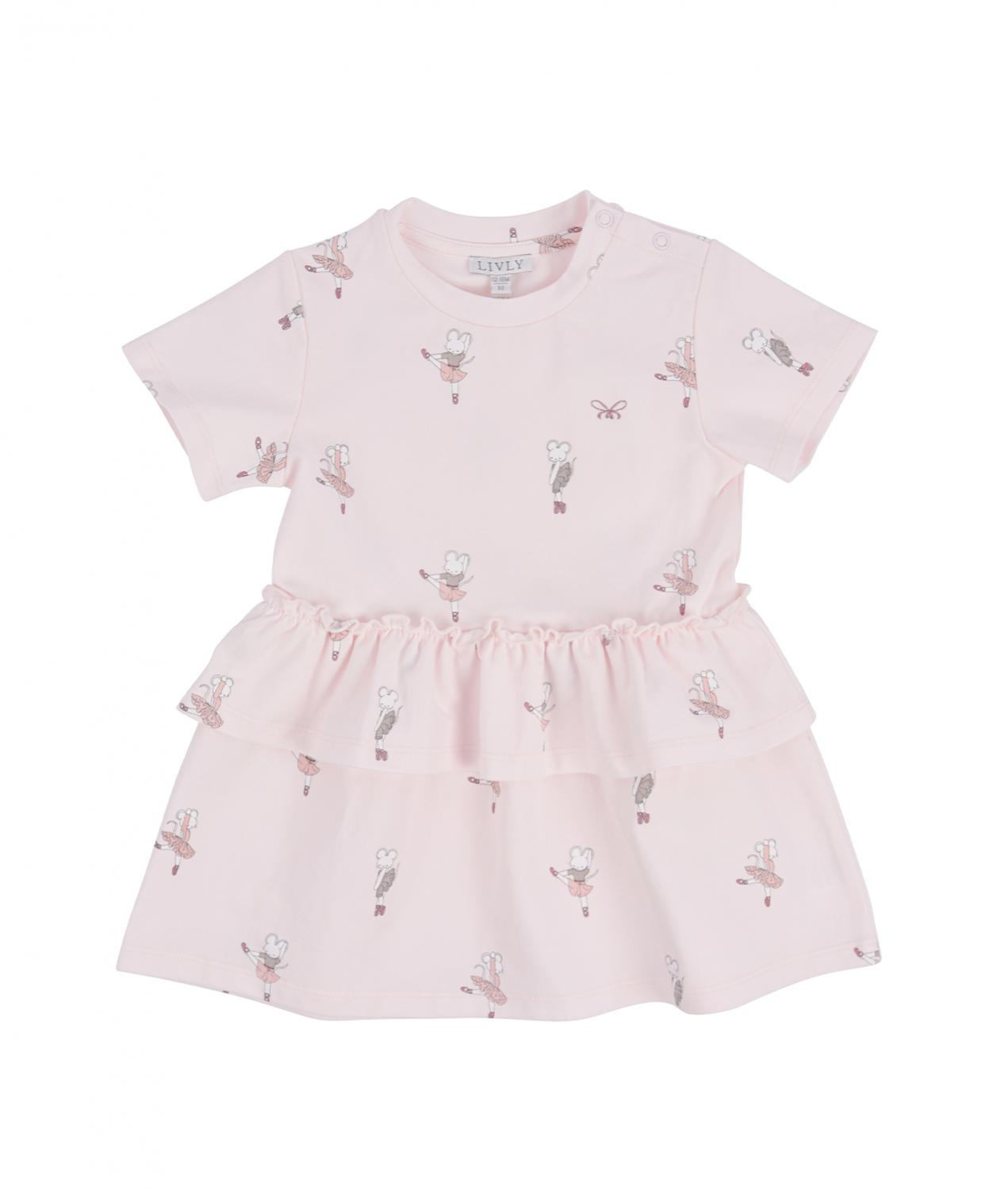 LIVLY LILLY DRESS DANCING MICE PINK