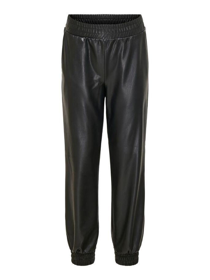 ONLY KONRACHEL COATED PANTS BLACK