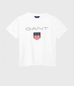 1910618,GANT T-Shirt 805114-Vit sköld